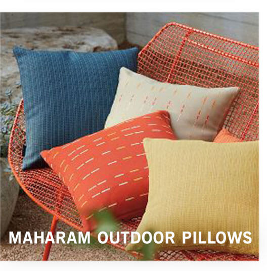 MAHARAM OUTDOOR PILLOWS